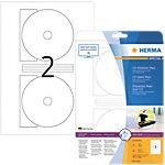 Étiquettes multifonctions HERMA Blanc Ø 116 mm 25 Feuilles