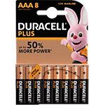 Piles Duracell Plus Power AAA 8 Unités