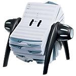 Fichier rotatif DURABLE Telindex Flip Noir, gris 21,5 x 18,5 x 12 cm