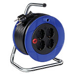 Enrouleur de câble électrique brennenstuhl Kompakt 4 prises