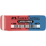 Gomme double Faber Castell 7070 40 Rouge, bleu