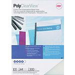Couvertures de reliure PolyClearView GBC A4 PVC 300 microns Transparent 100 Unités