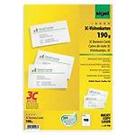 Cartes de visite pour PC Sigel 3C Lisse 190 g