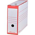 Boîtes archives Office Depot A4 Rouge Carton 24,5 x 10 x 33,5 cm 25 Unités