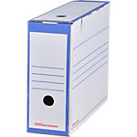 Boîtes d'archivage Office Depot A4 Bleu Carton 25 Unités