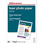 Papier photo laser Office Depot Blanc Brillant 135 g