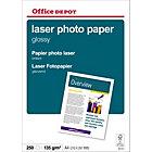 Papier photo laser Office Depot Blanc Brillant 135 g