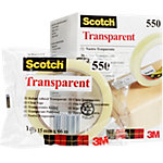 Ruban Adhésif Scotch 550 Transparent avec Emballage individuel 19 mm x 66 m Pack de 8 Rouleaux