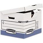 Boîtes d'archivage Fellowes System 37,7 x 39,5 x 31 cm carton 100% recyclé Blanc, bleu 10 unités