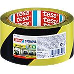 Ruban de marquage Tesapack 50 mm x 66 m Noir, jaune