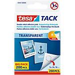 Pastilles adhésives tesa TACK 59401 00000 11 mm Transparent 200 Unités
