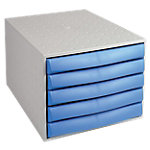 Module de classement Office Depot Gris, bleu 5 tiroirs 28,4 x 38,7 x 21,8 cm