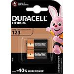 Piles Duracell High Power Lithium CR123 2 Unités