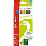 Crayons de couleurs STABILO GREENcolors Assortiment 12 Unités