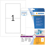 Étiquettes multifonctions HERMA Blanc 121 x 242 mm 25 Feuilles