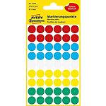 Pastilles autocollantes Avery 3088 Assortiment 5 Feuilles de 54 Étiquettes