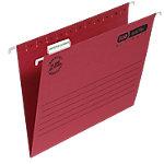 Dossiers suspendus verticaux ELBA Verticflex Ultimate A4 Rouge Carton Manila Fond V 25 Unités