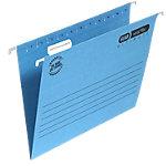 Dossiers suspendus verticaux ELBA Verticflex Ultimate A4 Bleu Carton Manila Fond V 25 Unités