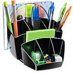 Pot à crayons multiple CEP Pro Plastique Noir 15,8 x 14,3 x 9,3 cm