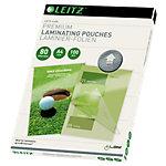 Pochette de plastification Leitz Brillant 2 x 80 (160) µm Transparent 100 Unités