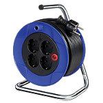 Enrouleur de câble électrique brennenstuhl Compact 15 m 4 prises