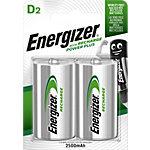 Piles rechargeables Energizer R20 D 2 Unités