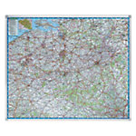 Carte géographique Legamaster 1 : 250 000 121 x 101 cm