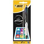 Stylo bille et stylet BIC Stylus Grip 4 Colours Assortiment
