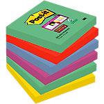 Notes adhésives repositionnables Post it Super Sticky Marrakech Assortiment 76 x 76 mm 6 unités de 90 feuilles 6 unités de 90 feuilles
