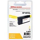 Cartouche jet d'encre Office Depot Compatible HP 951XL Jaune CN048AE