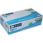 Gants M Safe Unpowdered nitrile taille l Bleu 100 unités