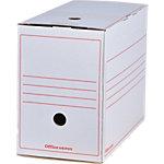 Boîtes d'archivage Office Depot A4 Blanc 100% carton recyclé 16,7 x 33,5 x 24,5 cm 12 Unités
