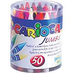 Crayons de couleurs CARIOCA Jumbo Assortiment 50 Unités