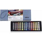 Crayons pastels Talens 300C15 Assortiment 15 Unités