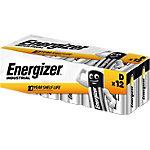 Piles Energizer LR20 D 12 Unités