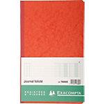 Journal Exacompta 7600X Noir 2 colonnes verticales avec fiche d'identification 110 g