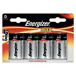 Piles Energizer LR20 D 4 Unités