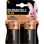 Pile Duracell Plus Power D 2 unités