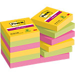 Notes Post it Super Sticky 47,6x47,6mm Couleurs Rio de Janeiro 12 Blocs de 90 Feuilles