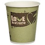Gobelets jetables PAPSTAR Pure Love Nature Papier, carton 200 ml Vert 50 Unités