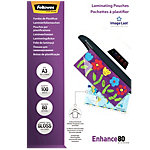 Pochettes de plastification Fellowes Brillant 2 x 80 (160) microns Transparent 100 Unités