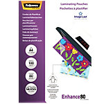Pochettes de plastification Fellowes Brillant 2 x 80 (160) Micron Transparent 100 Unités