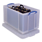 Boîte de rangement Really Useful Boxes 84CCB 44 x 71 x 38 cm Plastique Transparent