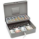 Caisse à monnaie avec plateau de monnaie WEDO Standard Plus Gris 30 x 24 x 9 cm