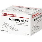 Office Depot Attaches papillon 57x50 Argenté 50 Unités