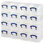Boîtes de rangement Really Useful Boxes 0,3 litre 37,5 x 12,5 x 31 cm Plastique Transparent