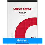 Bloc notes Office Depot Blanc Quadrillé micro perforé A4+ 70 g