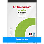 Bloc notes Office Depot Recycled Blanc Quadrillé micro perforé A5+ 70 g