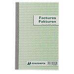 Carnet de factures bilingue Exacompta 53280 Blanc, vert 13,5 x 21 cm 25 feuilles