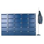 Caisson à tiroirs pour dossiers suspendus Bisley Bleu 47 x 62,2 x 151,1 cm